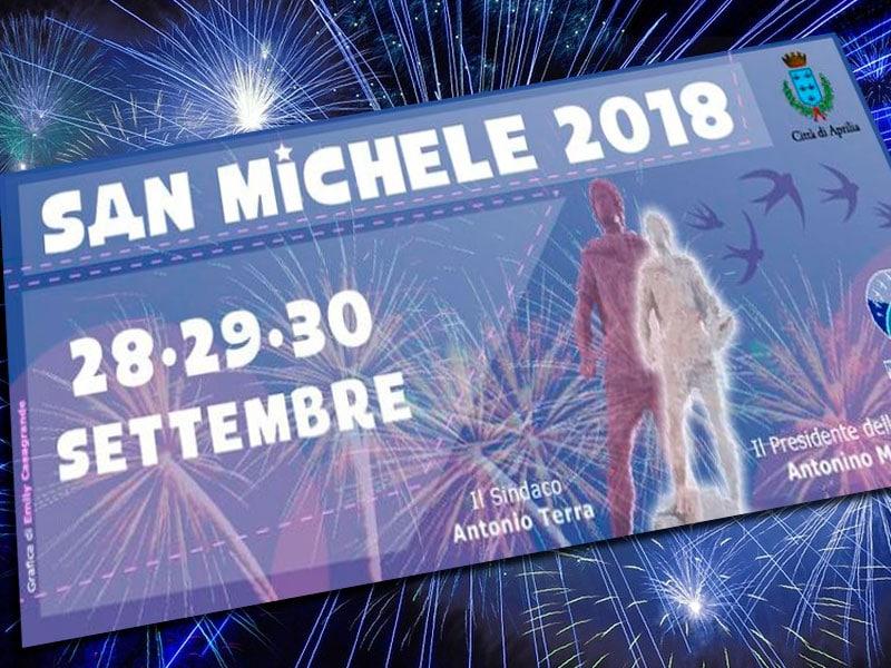 APRILIA: Tutto il programma della Festa di San Michele 2018 ...